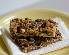used to think granola bars should be made with raw oats, nuts, seeds ...