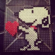 Snoopy Love perler beads by Muñecadraculaura