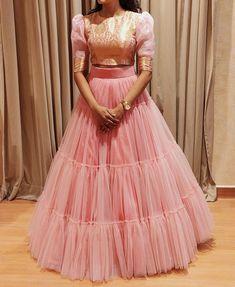 Party Wear Indian Dresses, Designer Party Wear Dresses, Indian Gowns Dresses, Dress Indian Style, Indian Fashion Dresses, Indian Wedding Outfits, Indian Designer Outfits, Girls Fashion Clothes, Lehenga Designs Simple