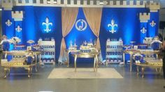 Nadia L's Birthday / Prince - Photo Gallery at Catch My Party Prince Birthday Theme, Baby Boy Birthday, 50th Birthday Party, Royalty Baby Shower, Medieval Party, Royal Party, Party Fiesta, Prince Party, Gold Party Decorations