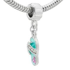 Pugster Blue Beach Sandal Dangle Crystal Beads - Pandora Charm & Bracelet Compatible (Jewelry)  http://healthpeoplecenter.com/like/B001LRMMHA/