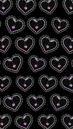 Black and white heart iphone wallpaper background for Schwarze mustertapete