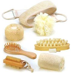 Serenity Deluxe Home Essential 7 Piece Spa Kit Gift Set (includes loofah, sisal sponge, nail brush, mesh sponge, sisal belt, Anti Cellulite Wooden Massage Circulation Spa brush and extra-gentle hairbrush) Serenity http://www.amazon.co.uk/dp/B00WOS5GY6/ref=cm_sw_r_pi_dp_jRepvb01H0BJY