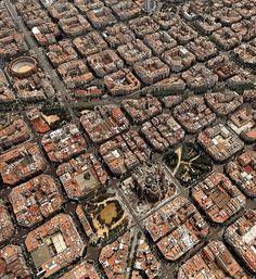 Barcelona as a chessboard from above repin & like. listen to Noelito Flow songs. Noel. https://www.twitter.com/noelitoflow