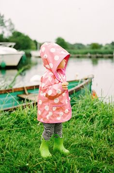 Polka Dots~Pink raincoat