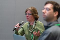 Linda Kahl, legal scholar in synthetic biology, in a workshop session at the 2014 iGEM Jamboree.