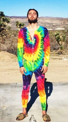 Jared Leto wore a tie-dye onesie in the desert to inspire you