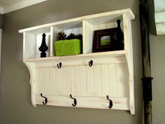 blue roof cabin: Entry Shelf - How To