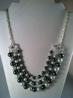 Beaded Pearl Necklace - JewelryGift Under 40 - Affordable Beaded Jewelry - Multi Strand Necklace - Beaded Necklace. $38.00, via Etsy.