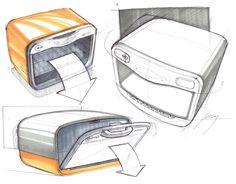 Sketches of Toaster Ovens by Designer Spencer Nugent