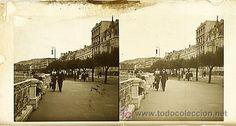 SAN SEBASTIAN - VISTA - AÑOS 1910-15 - CRISTAL POSITIVO (TAMAÑO GRANDE) (Fotografía Antigua - Estereoscópicas)