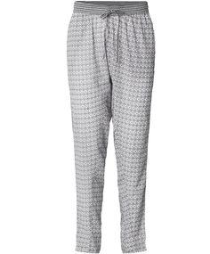 Plus Fine Pyjama Hose Pants MOSAIK black
