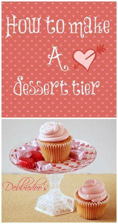 How to make a #dollartree #dessert tier. #modpodge,