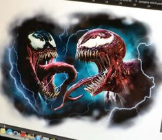 Venom and Carnage by Victor Del Fueyo