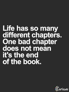 Life is like a book.