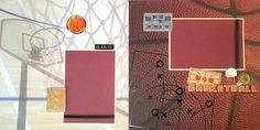 Basketball Scrapbook Layout  www.ctscrapbooks.com