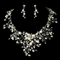 freshwater pearl bridal jewelry set