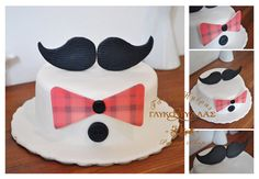 Moustache cake with bow tie !!!!