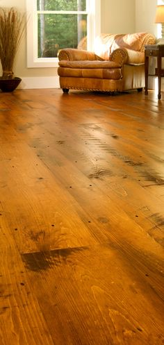 "Beautiful Wide Plank Pine Floor, ""Hit or Miss"" White Pine, $8.85 7"" wide unfinished"