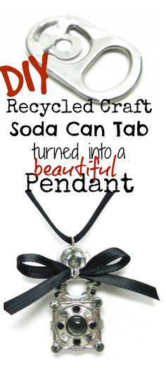 DIY Recycled Craft Soda Can Pendant