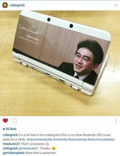 Iwata Cover-plate, for New Console Satoru Iwata, New 3ds, Retro Gamer, Gaming Accessories, Cube, Nintendo, Plate, Fan Art