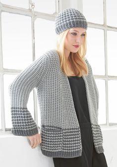 Lana Grossa JACKE Brigitte No. 1 - Das ist Trend - Modell 19 | FILATI.cc WebShop