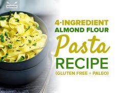 home recipes: Almond Flour Pasta Recipe (Gluten Free + Paleo) Almond Flour Pasta Recipe, Almond Flour Recipes, Coconut Flour, Paleo Pasta, Gluten Free Pasta, Carb Free Pasta, Paleo Lasagna, Keto Pasta Recipe, Pasta Food
