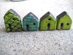 house beads raku by Jubilee on Etsy