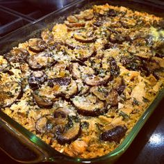 Stracciatella: Lightened Up Chicken Marsala Casserole... Looks amazing, wish my people liked mushrooms.