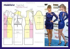 Mini dress, pattern instructions