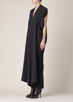Zero + Maria Cornejo Long Folio Dress (Black)
