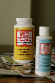 Mod podge ideas.