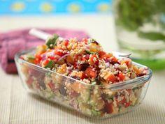 Őszibarackos és cukkinis bulgur saláta