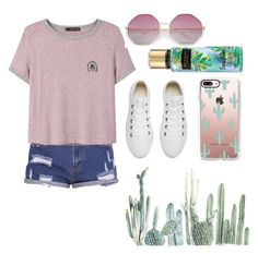 """Spring: Simple & Cute"" by foodiefashion ❤ liked on Polyvore featuring MANGO, Converse, Casetify, cute, ootd, SpringStyle, 2017 and Spring2017"