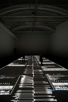 Datamatics. data.tecture [5 SXGA+ version] by Ryoji Ikeda