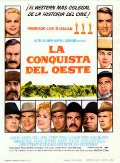 Cartel Español de La conquista del Oeste