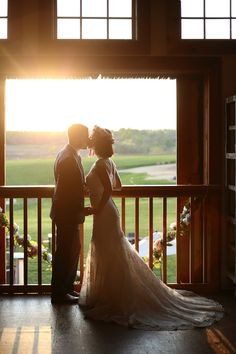 Bride and Groom sunset photo #wedding #bride