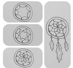 How to draw a dream catcher. From diy_doityourself on Instagram.