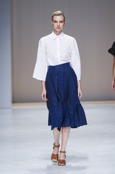 Amanda Laird Cherry   Spring Summer 2018    Look 6   Photo by Eunice Driver for South African Fashion Week South African Fashion, African Fashion Designers, Spring Summer 2018, Amanda, Midi Skirt, Skirts, Zen, Cherry, How To Wear