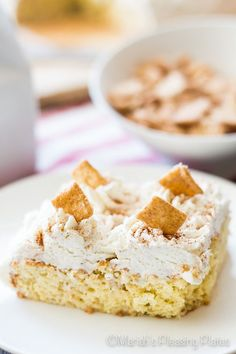This Cinnamon Milk and Cereal Cake is a sweet treat that will have you wrapped up in nostalgia. It's a sweet Mexican-style sponge cake loaded with sweet cinnamon sugar and cereal milk for an extra special twist on the classic Tres Leches Cake.