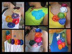 apliques en relieve Refashion, Crochet Necklace, Halloween, Navidad Diy, Floral, Collection, Easy, Costume Ideas, Party