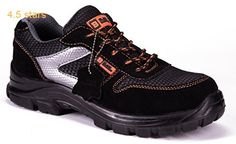 Mens Safety Trainers Ultra Lightweight Composite Toe Cap and Kevlar Midsole Metal Free Work Shoes Ankle Hiker 1997 Black Hammer Latest Mens Fashion, Mens Fashion Shoes, Work Wear, Hiking Boots, Trainers, Ankle, Ebay, How To Wear, Black