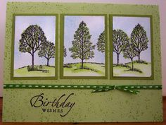 SU Lovely as a Tree  - tri-panel card - bjl