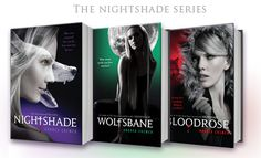 """The """"Nightshade"""" Series: Author: Andrea Cremer / Book """"Nightshade"""" / Book """"Wolfsbane"""" / Book """"Bloodrose"""" I Love Books, Great Books, Books To Read, Ya Books, Archie Comics, Book Spine, Fandoms, Best Series, Book Themes"""