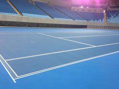 Les lignes de la Margaret Court Arena sont prêtes pour l'édition 2015 de l'Open d'Australie.