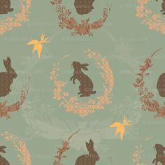Jade moon rabbit fabric
