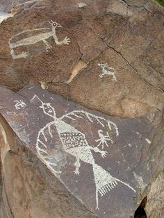 Petroglyphs. They are all over the place and are fun things to hunt for.
