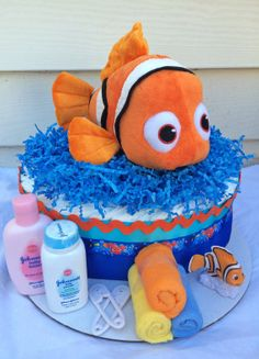 Hey, I found this really awesome Etsy listing at https://www.etsy.com/listing/190701375/disneys-finding-nemo-diaper-cake