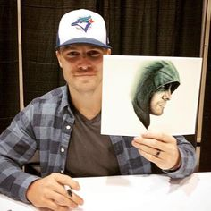 Another pic of the Captain @amellywood at #CalgaryExpo today  #Arrow
