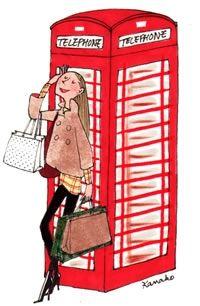 London Calling!!!    Illustration by Kanako, My Little Paris.